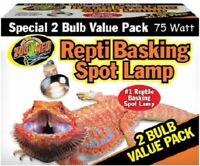 Zoo Med Repti Basking Spot Lamp 75 watt  2 bulb pack