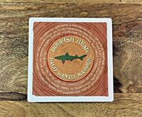 Dogfish Head Brewery Stone PALO SANTO MARRON Coaster Brewing Beer 4in x 4in
