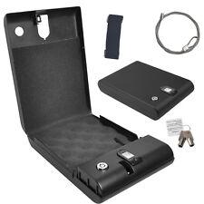 Mini Biometric Fingerprint Electronic Digital Gun Safety Security Box Lock Black