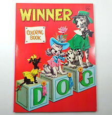 Whitman Unused Coloring Book Winner Dog Mid Century 60 pages1963