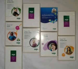 Lot Of 9 Sage Software Discs Pre-owned