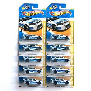 Hot Wheels 2012 Ford Falcon WHITE Race Car 10 PACK V8 Supercar