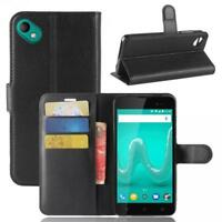 Wiko Sunny 2 Plus Coque de protection Housse Pochette Wallet Case Noir