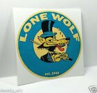 LONE WOLF Vintage Style DECAL, Vinyl STICKER, rat rod, racing, hot rod