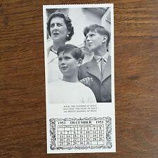Souvenir Daily Graphic Royal Family Postcard 1953 Dec HRH Duchess of Kent & kids