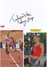 Malgorzata Trybanska  Polen  Leichtathletik Karte  signiert WL 346325