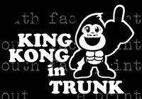KING KONG IN TRUNK _sick euro JDM race drift stance Decal Sticke