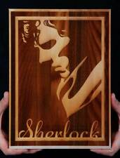 Sherlock Wooden Engraved Poster/Sherlock Art/Wooden/Wooden Wall Art/Wood Art
