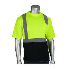 Pip 312-1250B-Ly/Xl Class 2 Short Sleeve T-shirt Black Bottom, Uv Block, Ly & Or
