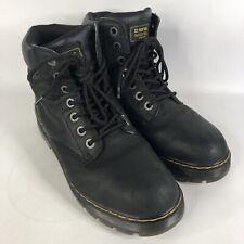 Dr Martens Industrial Steel Toe Air Wair Ankle Boot Men 10 EU 43 Black Leather