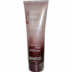 Giovanni Hair Care Products 2 Chic Keratin & Argan Oil Shampoo 235 ml