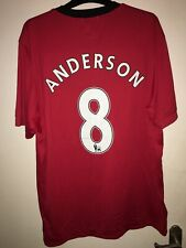 Manchester United Shirt 2009/10 ANDERSON #8 XL Home Nike