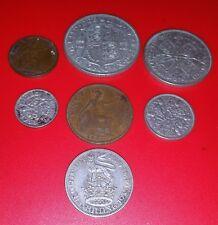 1933 George V British Pre-Decimal Coins Set Inc 36 gr. Silver