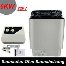 Sauna Biokombiofen 6KW Saunatechnik Saunazubehör Saunaofen mit Steuerung 220V DE