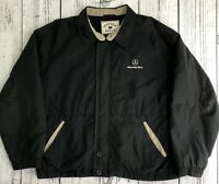 Cutter & Buck Mercedes Men's Black Zip Up Windbreaker Jacket Sz L Vintage   1519