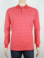 NEW Firethorn Golf Size S M L XL mens red stripe long sleeve polo shirt