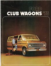 1975 Ford CLUB WAGON VAN Brochure: E-100,250,CHATEAU,CUSTOM,5 / 8 / 12 Passenger