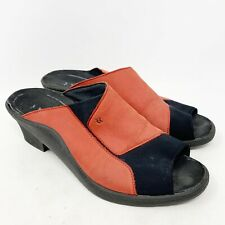 Romika Womens Heels Mules Red Black Open Toe Size 40 9