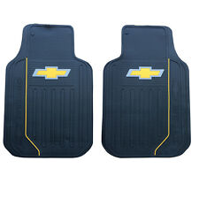New 2pc Chevy Bowtie Elite Logo Front Heavy Duty Rubber Floor Mats Set