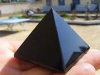50-60g (4CM) 1pcs NATURAL Obsidian quartz crystal Pyramid healing
