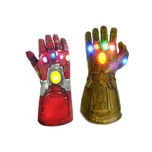 Adult Kids Iron Man Thanos Gauntlet Infinity War Gloves  with LED