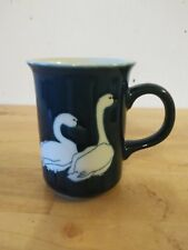 W Morgan Signed Blue Geese Coffee Cup