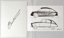 FLAMINIO BERTONI - Schizzi per l'AMI 6 - Fotolitografia - Citroën AUTOMOBILISMO