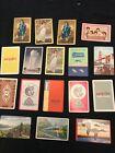 VTG. Lot 17 random single swap playing card: train, Dionne Quads, Greyhound Line