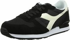 Diadora Camaro Black White Mens Suede Trainers Shoes