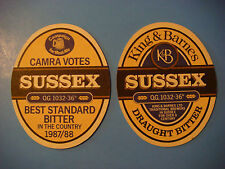 Vintage Beer COASTER: CAMRA Votes K&B SUSSEX Best Standard Bitter in the UK 1988