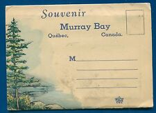 Murray Bay Wharf  Fraser Falls Cape Trinite Quebec Canada postcard folder