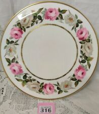 Royal Worcester Royal Garden 11'' Gateau Plate 1969 / Pink & White Roses VGC