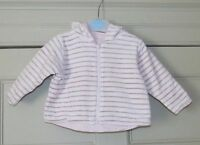 Mothercare Girls Reversible Jacket - Size 3-6 Months - Used VGC