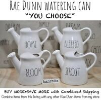 "Rae Dunn Watering Can ""YOU CHOOSE"" NEW '20 Ceramic BLESSED HOME GARDEN SPROUT"