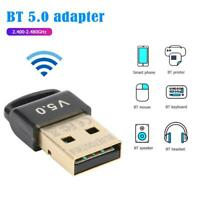 USB Bluetooth 5.0 Estéreo Audio Emisor Adaptador Para PC TV Altavoz Auriculares