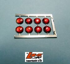 LIGHTS 3 mm PHOTO ETCH RED 8 UNITS  FAROS RESIN KIT FARO ROJO LIGHT