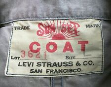 LEVI LVC VINTAGE SUNSET SACK COAT DENIM CHORE JACKET L jeans pre-big E