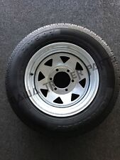 "GALVANISED 15"" WHEEL 6 STUD LAND CRUISER  RIM WITH 195R15 TYRE!TRAILER PARTS"