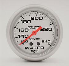 "AUTO METER ULTRA LITE 2 5/8"" MECHANICAL WATER TEMPERATURE GAUGE 120-240 DEG F"