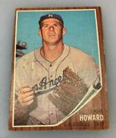 1962 Topps # 175 Frank Howard Baseball Card Los Angeles Dodgers LA
