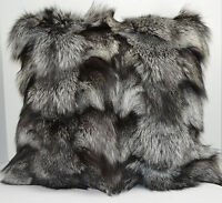 Silver Fox Fur pillow Real Genuine Authentic made in the USA