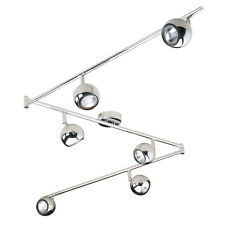 Large Modern Chrome 6 Way Kitchen Ceiling Spot Light Spotlight Lighting Lights