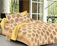 Bedsheets for King Size Double Bed Cotton bedsheet with 2 Pillow Covers Kingsize