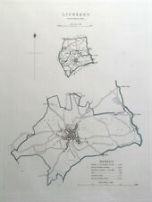 LISKEARD, CORNWALL, Street Plan, Dawson Original antique map 1832