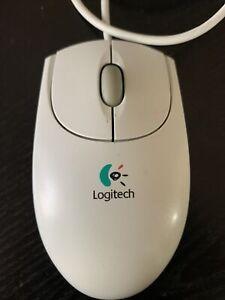 Logitech First/Pilot Wheel Mouse USB Mechanical 3-Button Scroll Ball Gray M-BE58