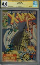CGC SS 8.0 X-MEN #64 1ST APPEARANCE OF SUNFIRE SIGNED BY ROY THOMAS & TOM PALMER