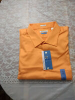NWT Van Heusen Lux Sateen No Iron Men's Dress Shirt-Tall, Orange-Retail $50