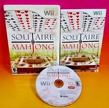 Solitaire & Mahjong - Nintendo Wii & Wii U Game Rare COMPLETE Rare
