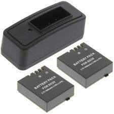 Ladegerät + 2 Akkus Typ Rollei DS-SD20 Ladestation Accu Battery Ersatzakku