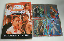 Topps Star Wars factfiles sticker resistencia-album + todos los 84 sticker